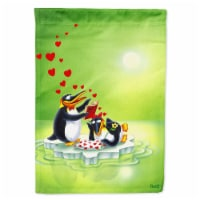 Carolines Treasures  APH0246CHF My Love Song Penguins Flag Canvas House Size