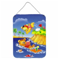 Teddy Bears Swimming and Diving Wall or Door Hanging Prints - 16HX12W