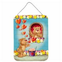 Teddy Bear Romeo and Juliet Love Wall or Door Hanging Prints - 16HX12W