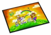 Carolines Treasures  APH0374JMAT Bears Flying a Kite Indoor or Outdoor Mat 24x36
