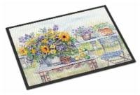 Patio Bouquet of Flowers Indoor or Outdoor Mat 24x36 - 24Hx36W