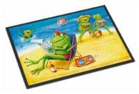 Carolines Treasures  APH0080MAT Frogs on the Beach Indoor or Outdoor Mat 18x27 - 18Hx27W