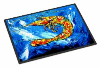 Carolines Treasures  MW1226JMAT Ice Blue Shrimp Indoor or Outdoor Mat 24x36