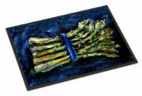 Carolines Treasures  MW1218MAT Asperagus Blew Indoor or Outdoor Mat 18x27 - 18Hx27W