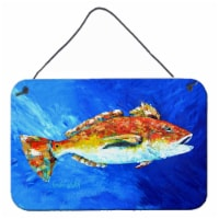 Carolines Treasures  MW1212DS812 Red Fish White Spin Wall or Door Hanging Prints