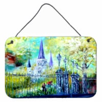 St Louis Cathedrial Across the Square Wall or Door Hanging Prints - 8HX12W