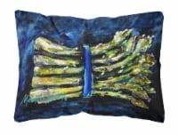 Carolines Treasures  MW1218PW1216 Asperagus Blew Fabric Decorative Pillow - 12Hx16W