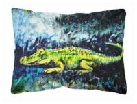 Carolines Treasures  MW1233PW1216 Sneaky Alligator Fabric Decorative Pillow