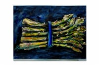Carolines Treasures  MW1218PLMT Asperagus Blew Fabric Placemat - Large