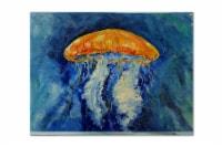 Carolines Treasures  MW1223PLMT Calm Water Jellyfish Fabric Placemat
