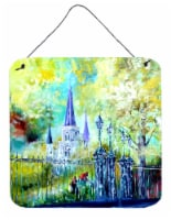 Across the Square St Louis Cathedral Wall or Door Hanging Prints - 6HX6W