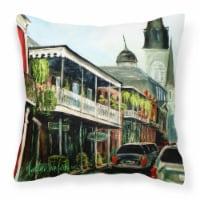 Carolines Treasures  MW1201PW1414 St Louis Cathedral Fabric Decorative Pillow - 14Hx14W