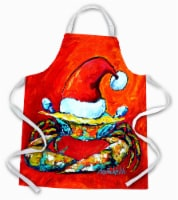 Carolines Treasures  MW1169APRON Crab in Santa Hat Santa Claws Apron