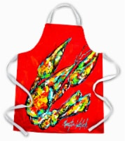 Carolines Treasures  MW1248APRON Hot Head #2 Crawfish Apron