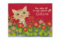 Carolines Treasures  VHA3009PLMT Garden Cat Fabric Placemat - Large