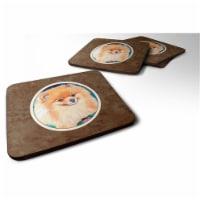Carolines Treasures 7165FC Pomeranian Foam Coaster, 3.5 x 0.25 x 3.5 in. - Set of 4