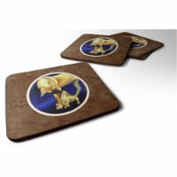 Carolines Treasures 7208FC Great Dane & Puppy Foam Coaster, 3.5 x 0.25 x 3.5 in. - Set of 4 - 4