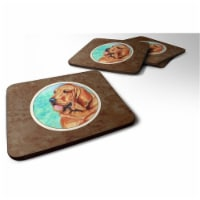 Carolines Treasures 7224FC Bloodhound Foam Coaster, 3.5 x 0.25 x 3.5 in. - Set of 4