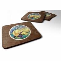 Carolines Treasures 7234FC Great Dane & Puppy Foam Coaster, 3.5 x 0.25 x 3.5 in. - Set of 4 - 4