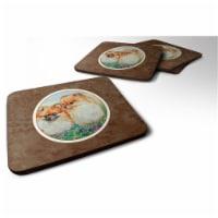 Carolines Treasures 7262FC Pomeranian Foam Coaster, 3.5 x 0.25 x 3.5 in. - Set of 4