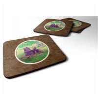Carolines Treasures 7263FC Schipperke & Puppy Foam Coaster, Set of 4 - 4