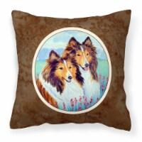 Sable Shelties Double Trouble Fabric Decorative Pillow