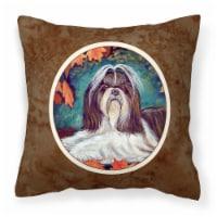 Carolines Treasures  7182PW1414 Autumn Leaves Shih Tzu Fabric Decorative Pillow