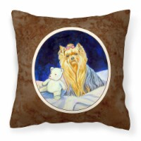 Carolines Treasures  7221PW1414 Yorkie Fabric Decorative Pillow