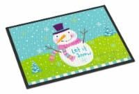Christmas Snowman Let it Snow Indoor or Outdoor Mat 24x36