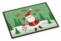 Merry Christmas Santa Claus Ho Ho Ho Indoor or Outdoor Mat 18x27