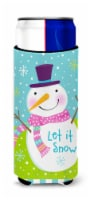 Christmas Snowman Let it Snow Michelob Ultra beverage insulators for slim cans
