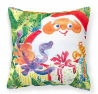 Santa Claus Christmas Surprise Fabric Decorative Pillow