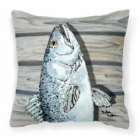 Carolines Treasures  8494PW1414 Fish Speckled Trout Fabric Decorative Pillow