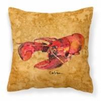 Carolines Treasures  8715PW1414 Lobster Fabric Decorative Pillow - 14Hx14W