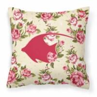 Fish - Angel Fish Shabby Chic Yellow Roses  Fabric Decorative Pillow