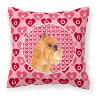 Brussels Griffon Hearts Love and Valentine's Day Portrait Fabric Decorative Pill