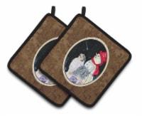 Carolines Treasures  SS8574PTHD Australian Shepherd Pair of Pot Holders - Standard
