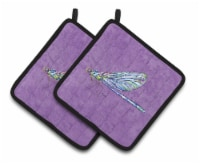 Carolines Treasures  8865PTHD Dragonfly on Purple Pair of Pot Holders