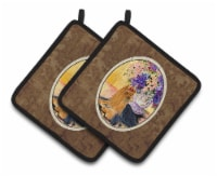 Carolines Treasures  SS8304PTHD Yorkie Pair of Pot Holders