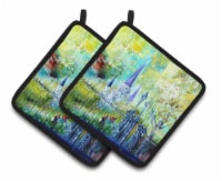 Across the Square St Louis Cathedral Pair of Pot Holders - Standard
