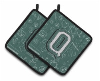 Letter Q Back to School Initial Pair of Pot Holders - Standard