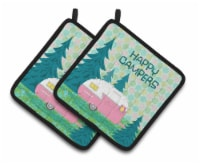 Happy Campers Glamping Trailer Pair of Pot Holders