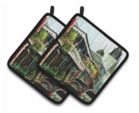 Carolines Treasures  MW1201PTHD St Louis Cathedral Pair of Pot Holders - Standard