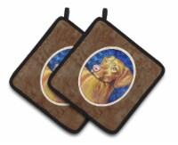 Carolines Treasures  7289PTHD Vizsla Pair of Pot Holders - Standard