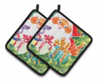 Christmas Santa Claus You Better Watch out Pair of Pot Holders - Standard