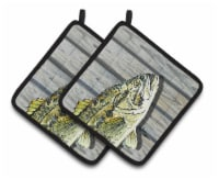 Carolines Treasures  8493PTHD Fish Bass Small Mouth Pair of Pot Holders