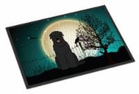Halloween Scary Black Russian Terrier Indoor or Outdoor Mat 24x36
