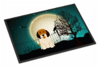 Halloween Scary Petit Basset Griffon Veenden Indoor or Outdoor Mat 24x36 - 24Hx36W