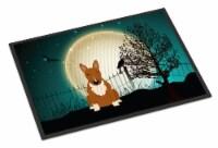 Halloween Scary Bull Terrier Red Indoor or Outdoor Mat 24x36 - 24Hx36W