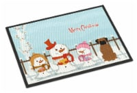 Merry Christmas Carolers Brindle Boxer Indoor or Outdoor Mat 24x36 - 24Hx36W